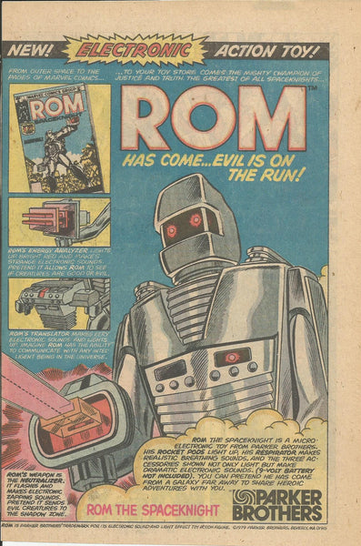 1980 Parker Brothers Rom Spaceknight Electronic Action Toy vintage print ad