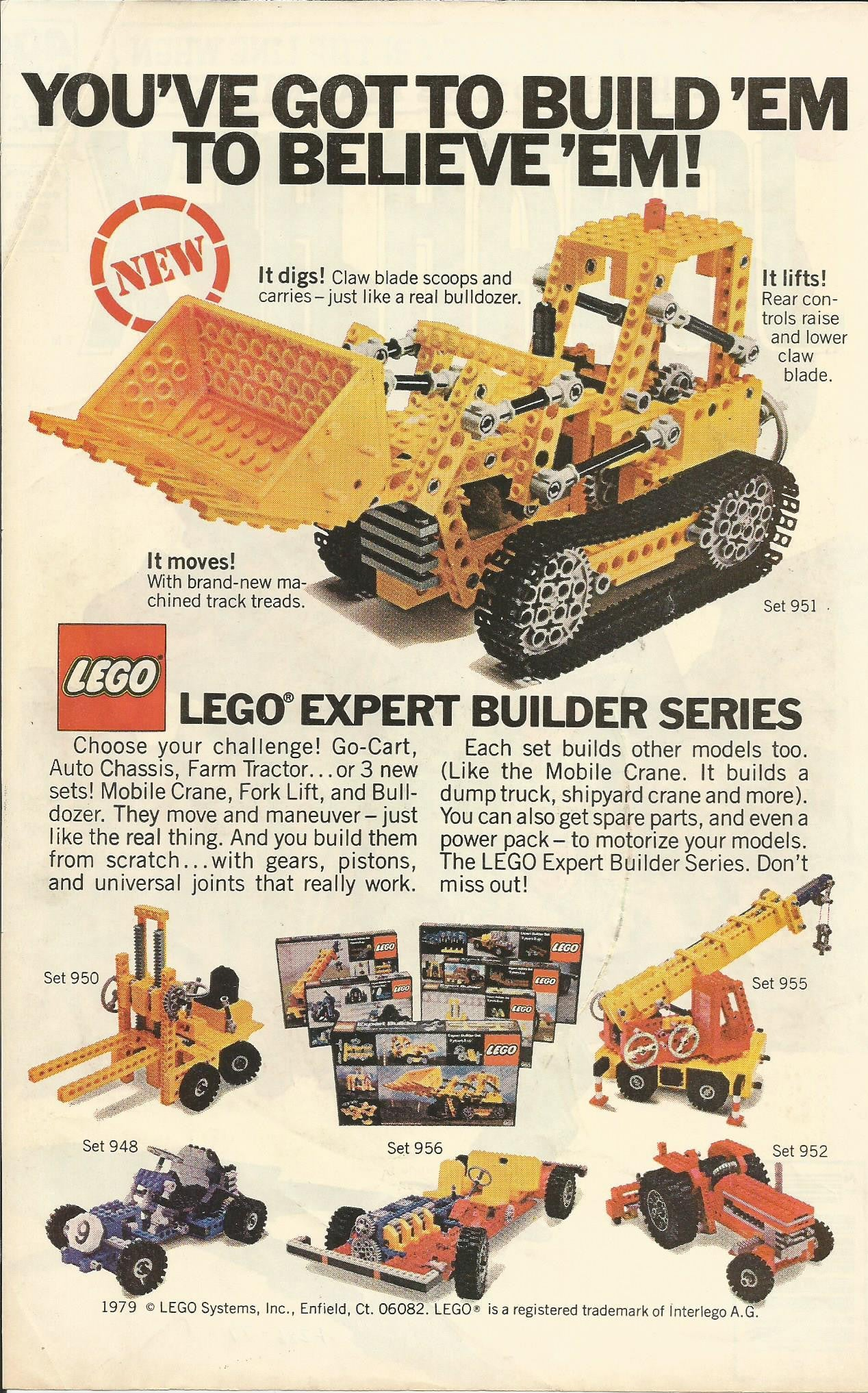 1979 Lego Product Catalog Booklet Complete