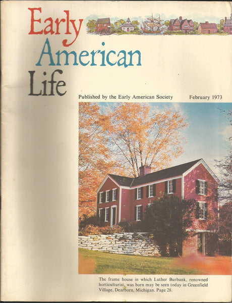 Early American Life February 1973 vintage magazine Society