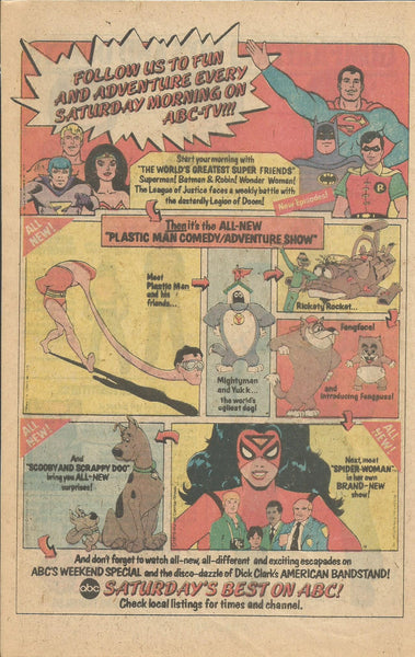 1979 ABC Saturday Morning Cartoons Scooby Doo Spiderman Batman vintage print ad