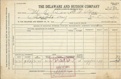 Delaware and Hudson Company Oneonta NY 1931 Railroad Revenue Bill