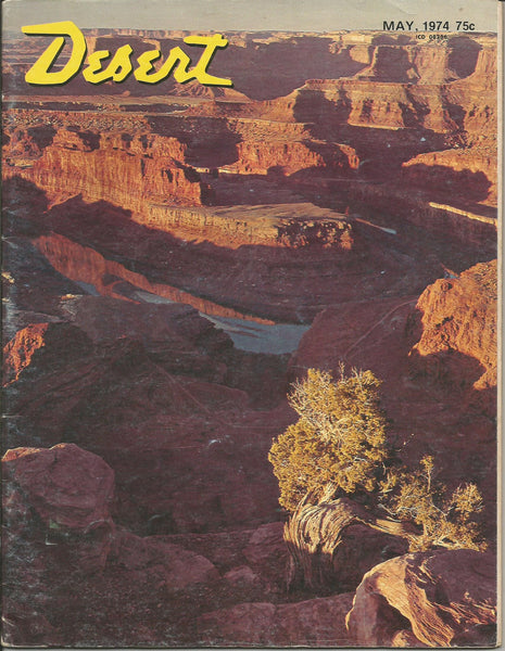 Desert May 1974 vintage magazine treasure hunting ghost towns camping