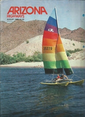 Arizona Highways August 1982 vintage magazine Hobie Cat Catamaran