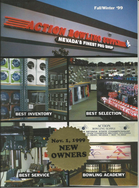 Action Bowling Supply Fall Winter 1999 Catalog Las Vegas NV