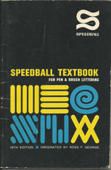 Speedball Textbook 19th Ed. 1965 Pen Brush Lettering Booklet calligraphy