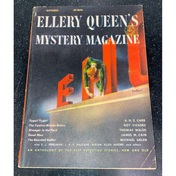 Ellery Queen's Mystery Magazine October 1952 Vol 19 No 107 James M. Cain