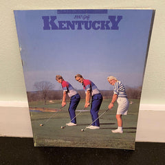 University of Kentucky golf media guide 1990 vintage sports