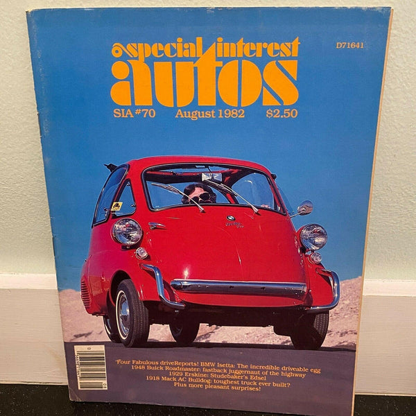 Special Interest Autos August 1982 BMW Isetta 1938 Buick Roadmaster car magazine