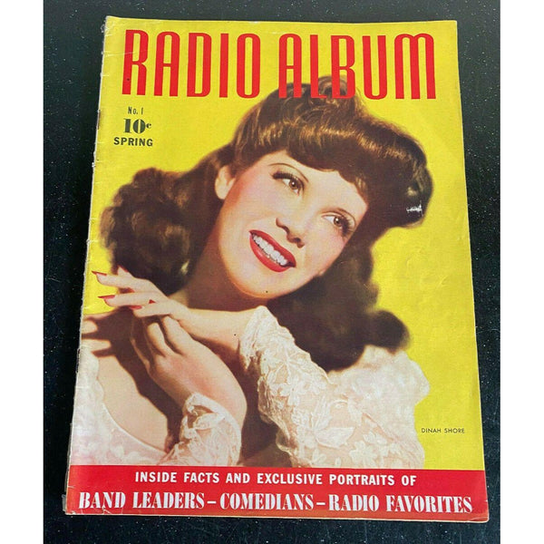 Radio Album #1 Spring 1942 Gene Krupa Orson Welles FIRST ISSUE Dinah Shore
