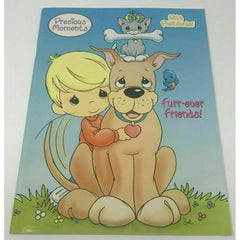 Precious Moments Coloring Book Vintage Furr-Ever Friends with Postcards 2003