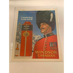 1971 Windsor Supreme Canadian Whiskey Winter Vintage Magazine Print Ad