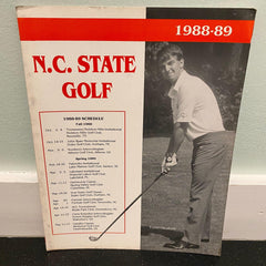 N.C. State Golf Schedule Flyer Wolfpack Roster 1988 1989 North Carolina