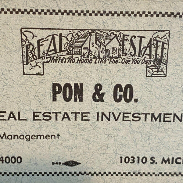 Pon & Co Ink Blotters Vintage Chicago Illinois Real Estate Investment Company
