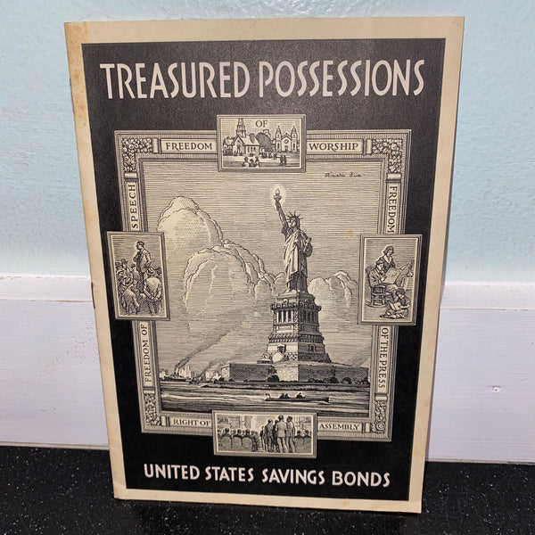 Treasured Possessions United States Saving Bonds Booklet pre 1940