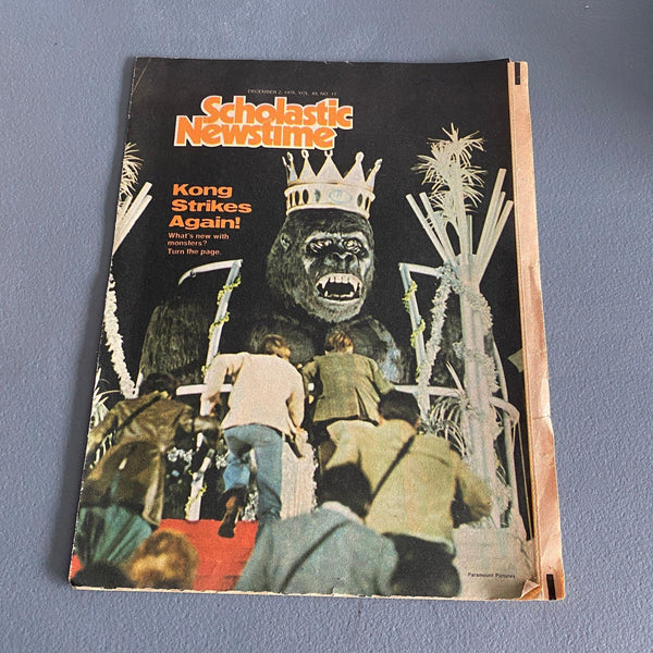 Scholastic Newstime December 2 1976 magazine King Kong Monsters