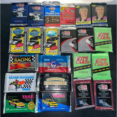 (22)-Vintage Unopened Wax Packs Cards-Lot Car Racing Pro Set NASCAR Winston Cup