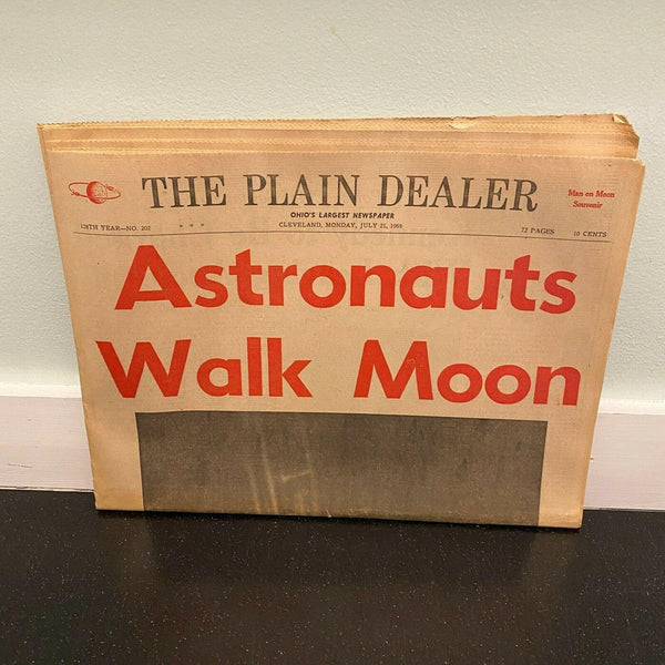 Plain Dealer July 21 1969 Astronauts Walk Moon Landing Complete Newspaper Ohio