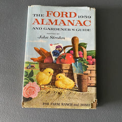 1959 Ford Almanac and Gardener's Guide book Farming Tractor Vintage Advertising