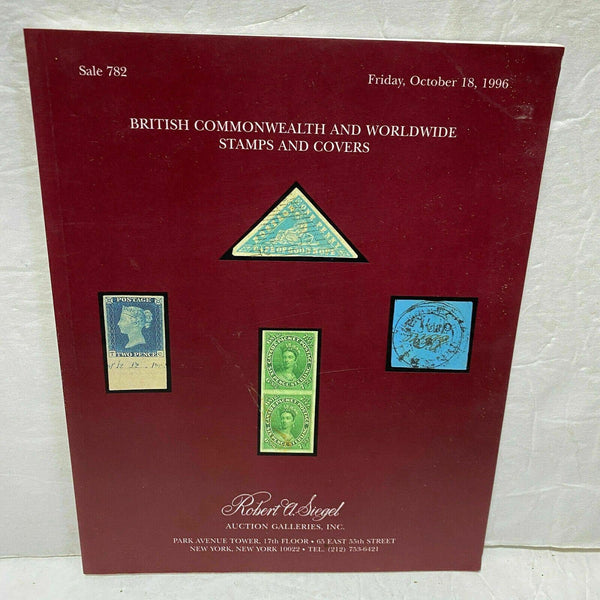 Siegel Stamp Catalog 782 British Commonwealth Worldwide Covers 1996