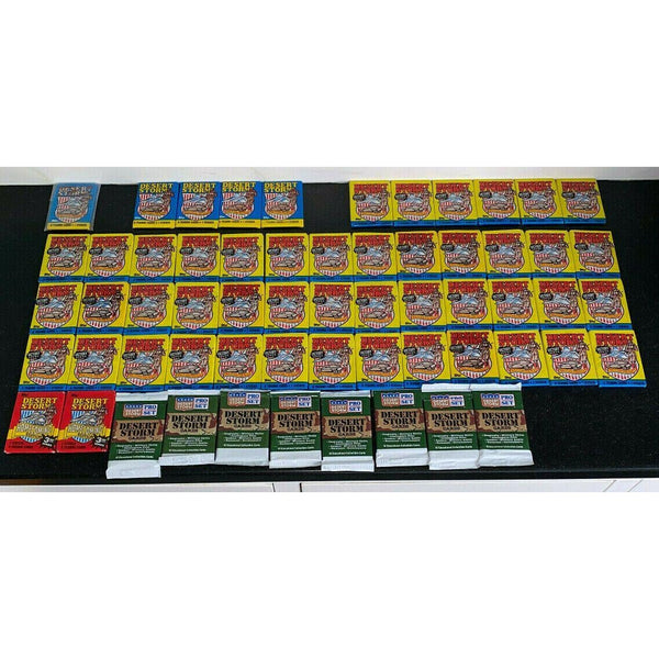Desert Storm Cards 60 Sealed Wax Packs 1991 Brown Letters Etc. Topps Pro Set