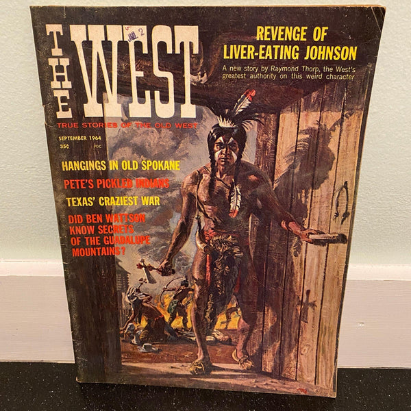 The West September 1964 western frontier magazine Spokane Indians