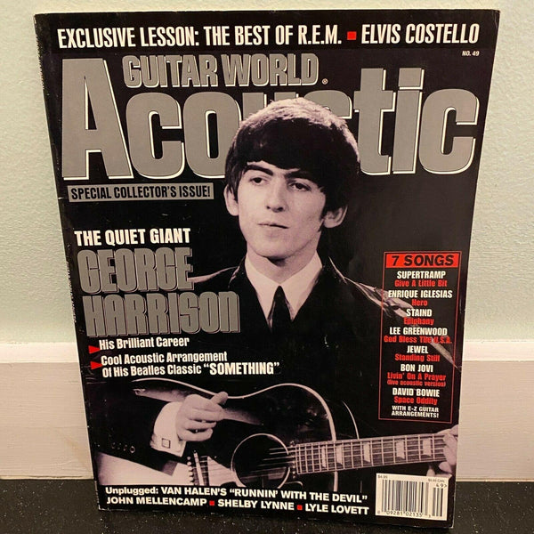 Guitar World Acoustic 2002 Issue 49 George Harrison David Bowie magazine