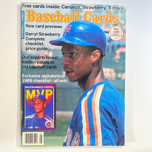 Baseball Cards Magazine May 1989 Darryl Strawberry w/Mint Cards - No Label EX