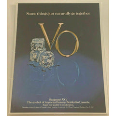 Seagram's V.O. Canadian Whisky ice cubes Vintage Magazine Print Ad