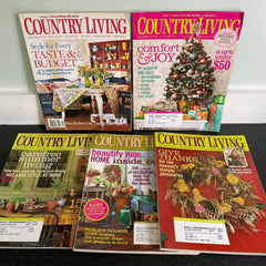 Country Living Magazine Lot of 5 Vintage Home Decorating 2006 2007 2008