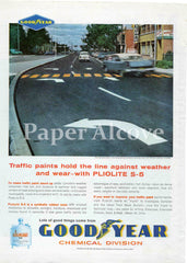 Goodyear Chemical Division 1961 ad Pliolite S-5 synthetic rubber resin Akron OH
