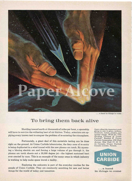 Union Carbide To Bring Them Back Alive 1961 ad