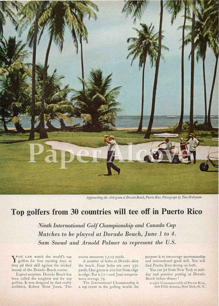 Dorado Beach Puerto Rico golf 1961 ad tourism Robert Trent Jones