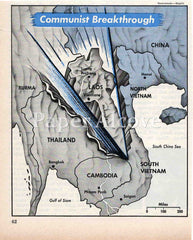 Vietnam Communist Breakthrough 1961 old map