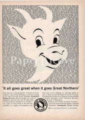 Great Northern Railway Rocky the Goat 1961 ad St. Paul MN