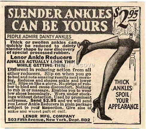 Lenor Ankle Reducers 1925 ad quackery