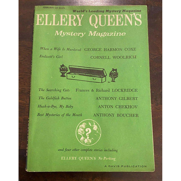 Ellery Queens Mystery Magazine February 1958 Vol 31 No. 2 #171 Cornell Woolrich