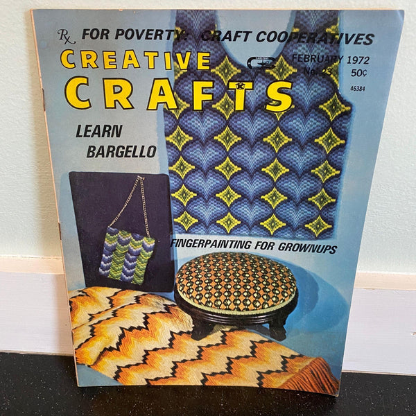 Creative Crafts magazine February 1972 vintage Bargello