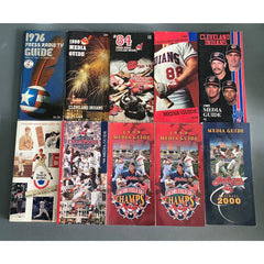 Cleveland Indians Media Guide Lot of 10 1976-2000 Baseball Programs