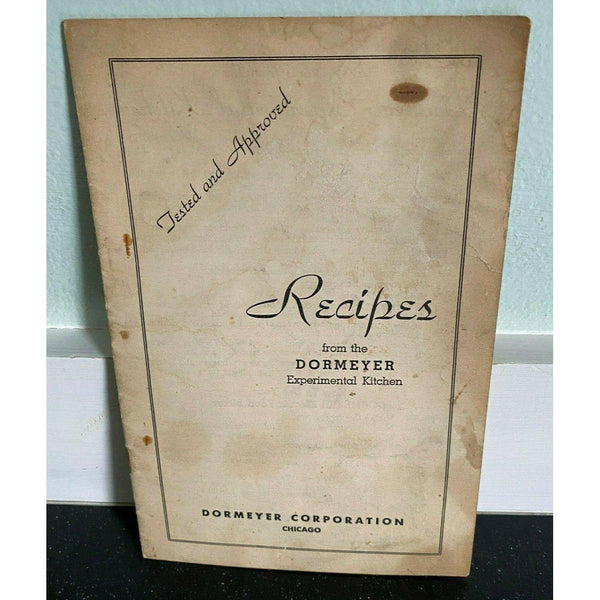 Vintage Recipes 1930s Dormeyer Corporation Chicago Electric Food Mixer Cookbook