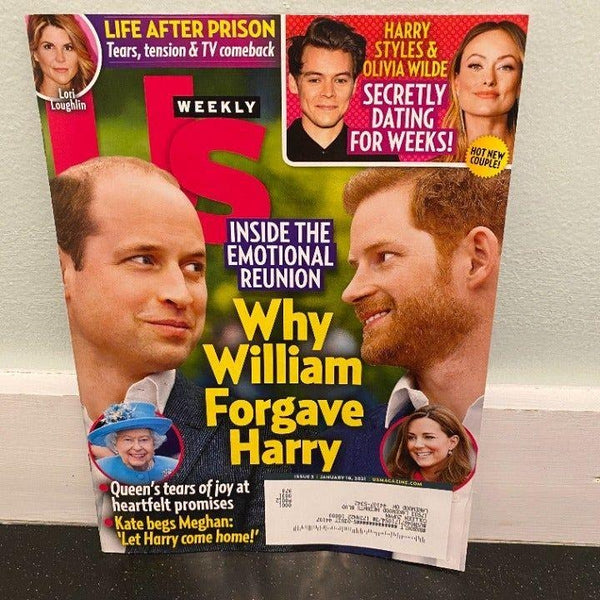 Us Weekly Jan 18 2021 magazine UK Royals Harry Styles Lori Loughlin