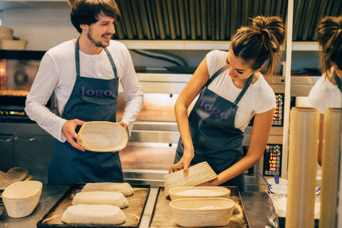 Amore Beaute makes custom aprons for restaurants, cafes and businesses
