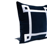 Minimalist Greek Key Pillow Cover, Velvet Pillow Case