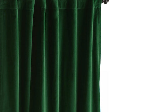 Emerald Green Velvet Curtain