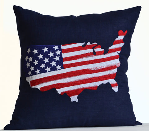 Buy decorative throw pillows with US Map