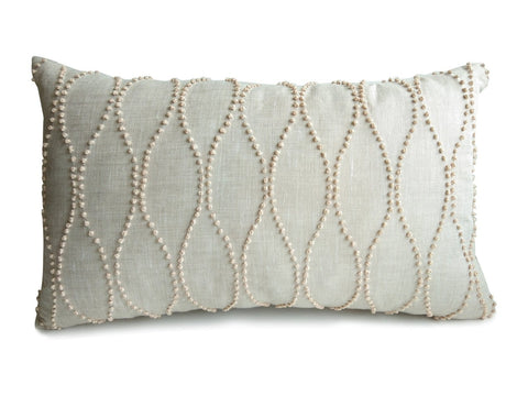 French Knot Minimalist Pillow Cover