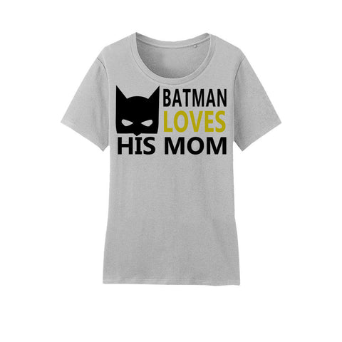 Amore Beaute Cotton T-Shirt with Batman Loves His Homework Printed on It