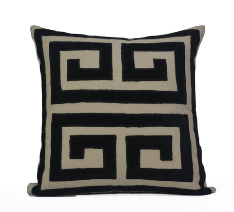 Large Greek Key Pillow Cover