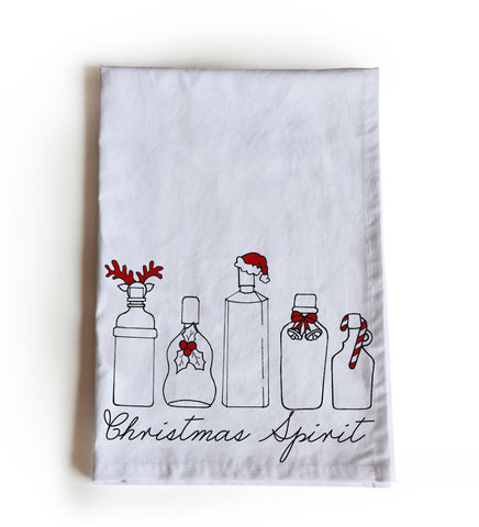 Christmas Spirit Cotton Tea Towel