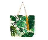 Tropical handmade tote bag