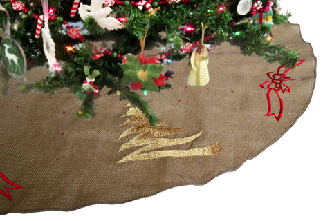 Handcrafted Christmas tree skirts